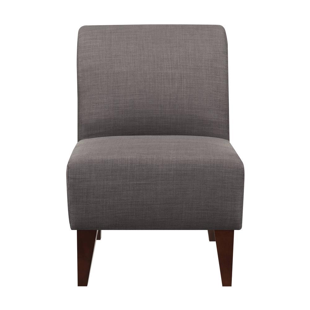 Superb North Accent Slipper Charcoal Side Chair Usc090100Ca The Frankydiablos Diy Chair Ideas Frankydiabloscom