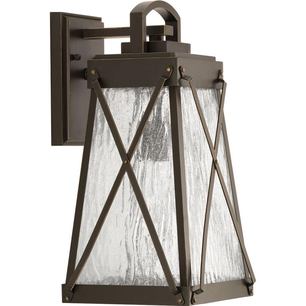 Creighton Collection 1-Light Antique Bronze Outdoor Wall Lantern