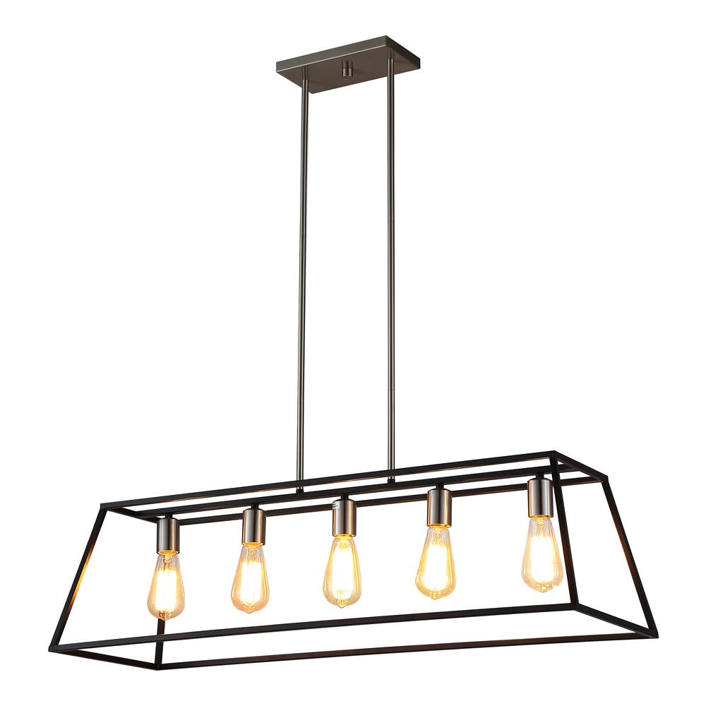 OVE Decors Agnes II Light Black PendantAgnes II The Home Depot - 5 pendant light fixture