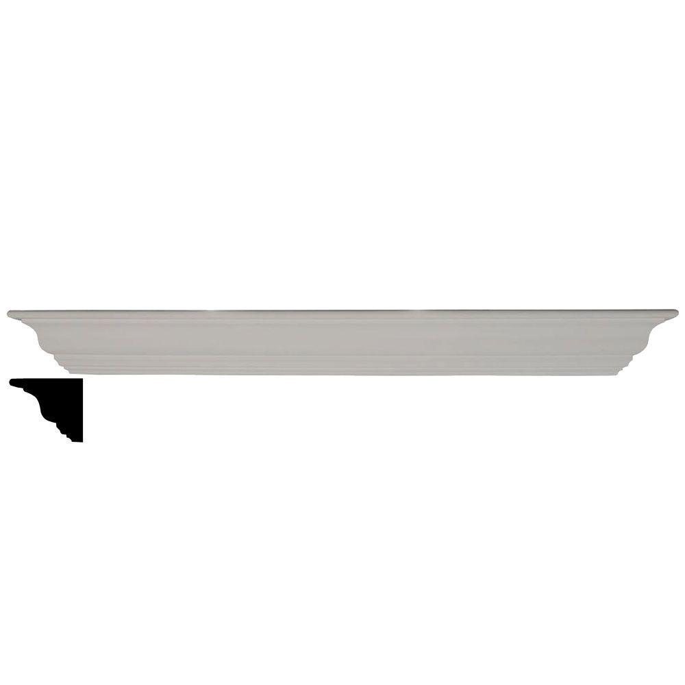 4-1/2 in. x 48 in. x 4-1/2 in. Polyurethane Classic Shelf