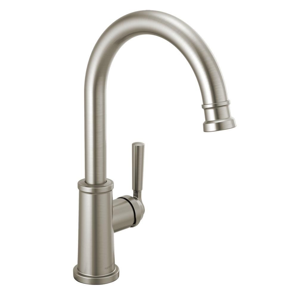 Peerless Westchester Single-Handle Standard Kitchen Faucet with Waterfall  Spout in Stainless