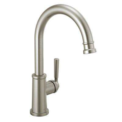 Westchester Single-Handle Standard Kitchen Faucet with Waterfall Spout in Stainless