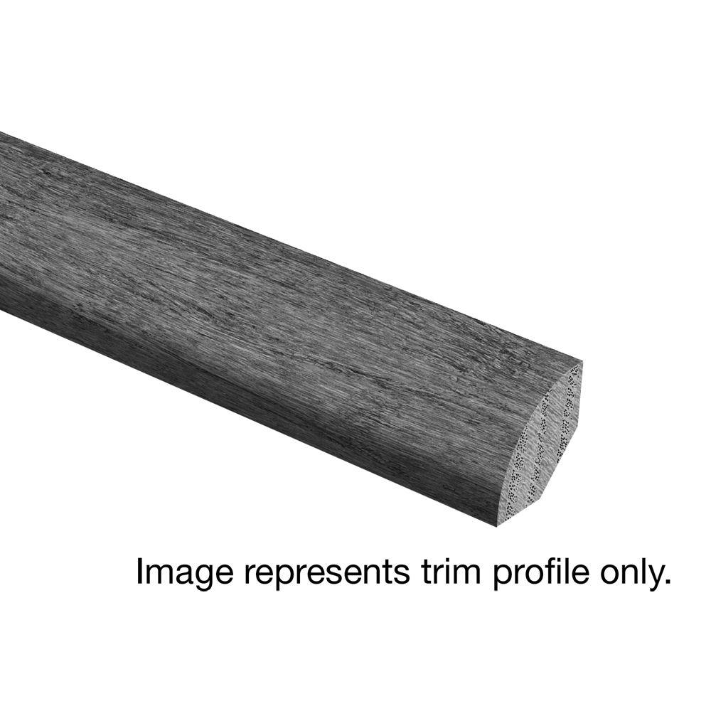 Zamma Oak Driftwood Wire Brushed 3/4 in. Thick x 3/4 in. Wide x 94 ...