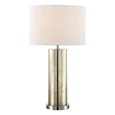 27.75 In. Gold Table Lamp With White Fabric Shade · Filament ...