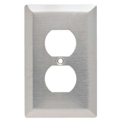 302 Series 1-Gang Jumbo Duplex Wall Plate in Stainless Steel