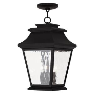 Livex Lighting Hathaway 3-Light Black Outdoor Hanging Lantern by Livex Lighting