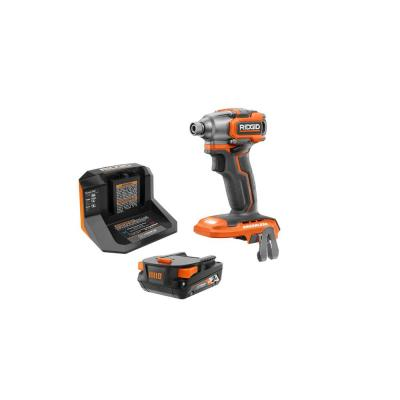 18-Volt Lithium-Ion Brushless Cordless SubCompact Impact Driver Kit with (1) 2.0 Ah Battery, Charger, and Bag