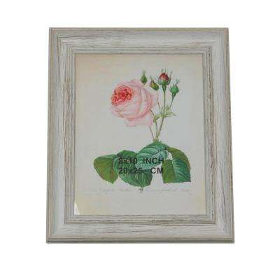 """White Vintage Inspired and Distressed Finished Picture Frame 8"""" x 10"""""""