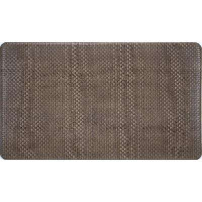 Basketweave Brown 20 in. x 36 in. Foam Mat
