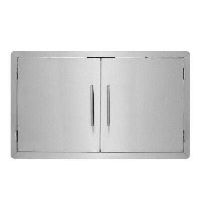 36 in. Stainless Steel Single Face BBQ Grill Double Access Door Panel