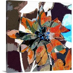Abstract Flower Iv By Rupa Art Canvas Wall Art