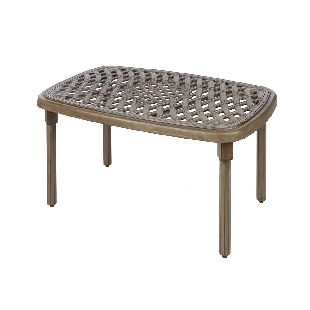 Coffee Table Patio Furniture: Hampton Bay Cavasso Metal Outdoor Coffee Table-171-410