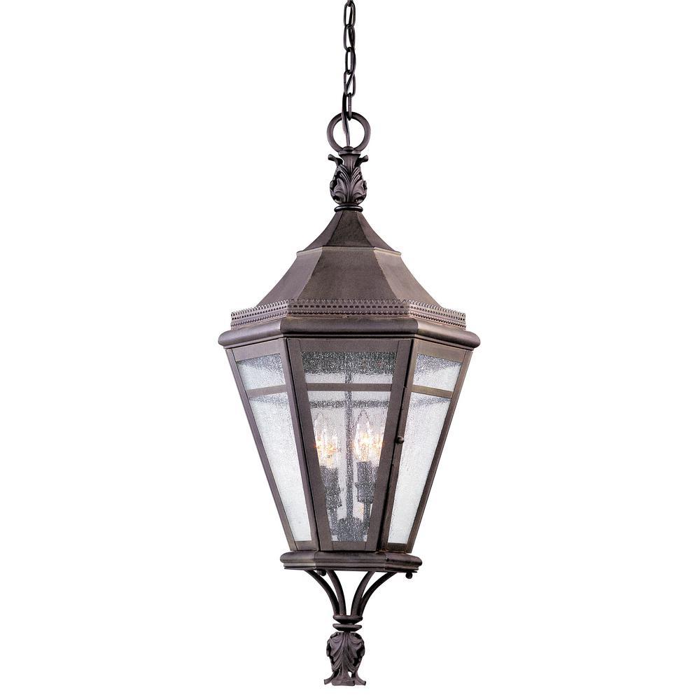 Morgan Hill 4-Light Natural Rust Outdoor Pendant