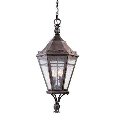 Morgan Hill 4-Light Natural Rust Outdoor Pendant