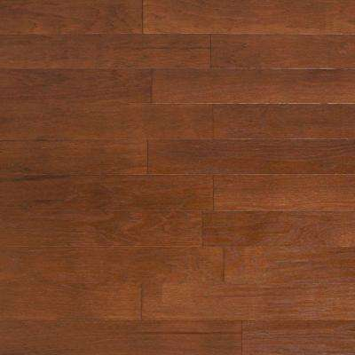 Brushed Vintage Hickory Cashmere 3/8 in. x 4-3/4 in. x Random Length Engineered Click Hardwood Flooring (33 sq. ft/case)