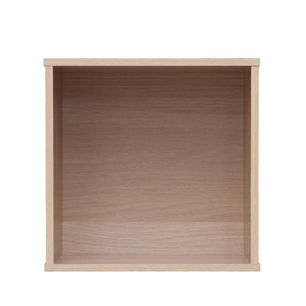 BAKU Light Brown Modular Wood Cube Box