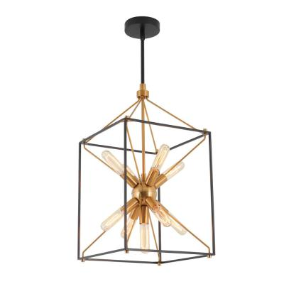 Clyde 9-Light Black Pendant