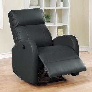 Pleasing Ac Pacific Black Sean Modern Leather Infused Small Power Machost Co Dining Chair Design Ideas Machostcouk