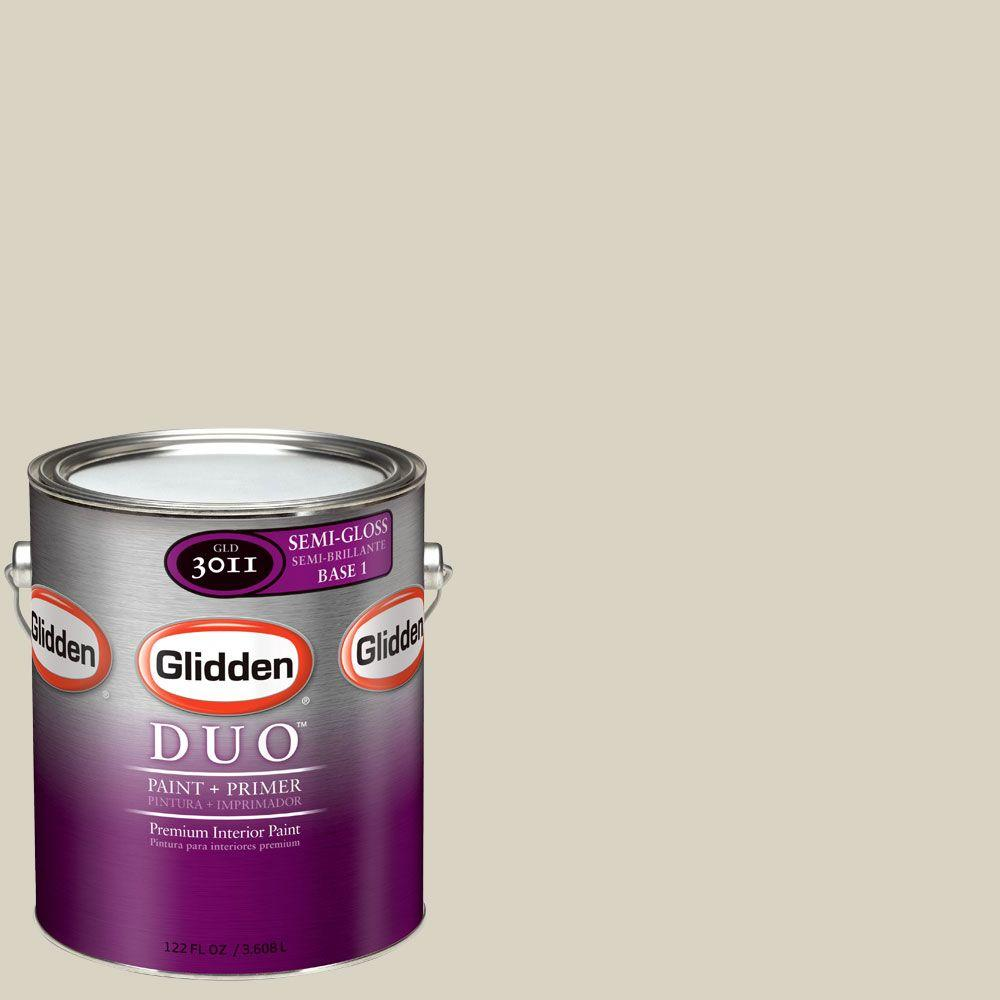 Glidden DUO Martha Stewart Living 1-gal. #MSL227-01S Fossil Semi-Gloss Interior Paint with Primer-DISCONTINUED