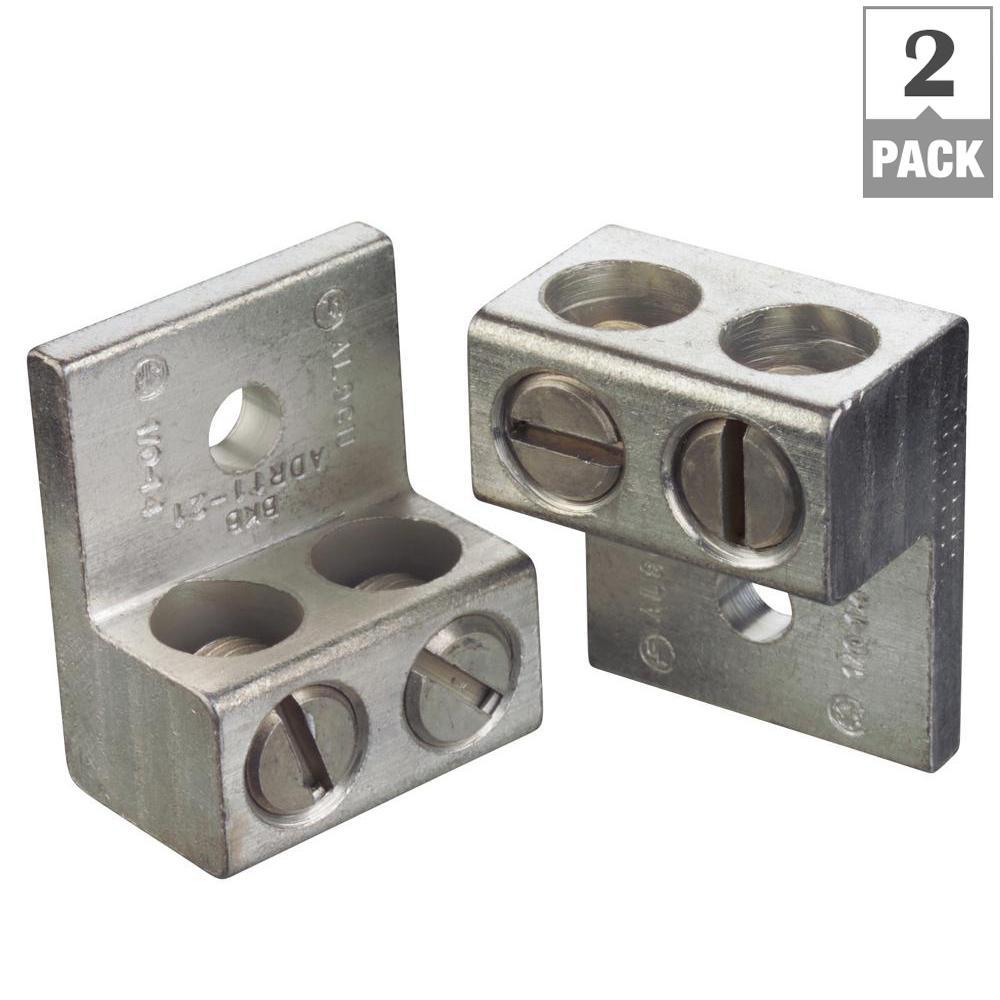 2-14 AWG Gardner Bender GTA-2N Aluminum Mechanical Lugs 2 Pack