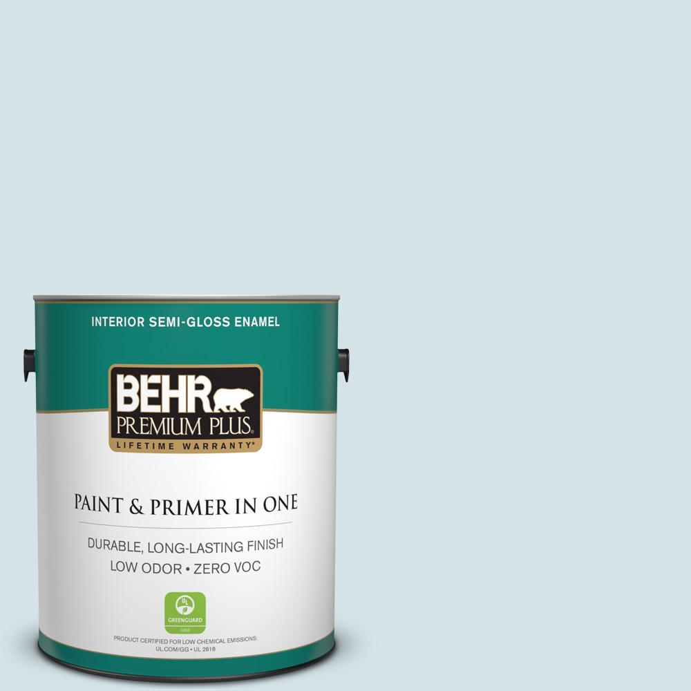 BEHR Premium Plus 1-gal. #PPL-72 Spa Retreat Zero VOC Semi-Gloss Enamel Interior Paint