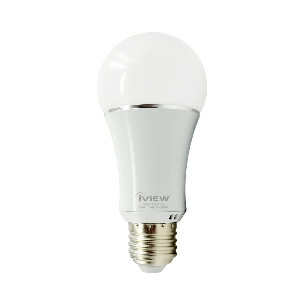 Iview 50W Equivalent Multi-Color and Adjustable White A19 Dimmable LED Light Bulb