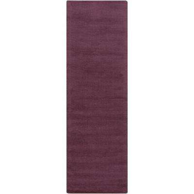 Falmouth Eggplant 3 ft. x 8 ft. Indoor Runner Rug