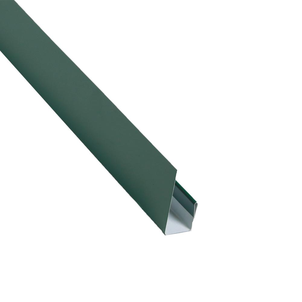 2 in. x 10.5 ft. Steel J-Channel Forest Green Drip Edge