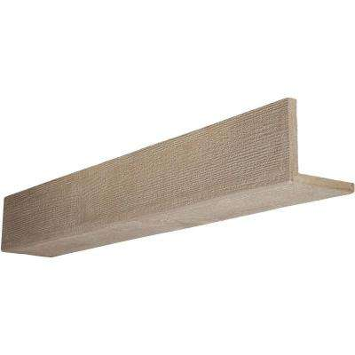 6 in. x 12 in. x 8 ft. 2-Sided (L-Beam) Rough Sawn Whitewash Faux Wood Beam