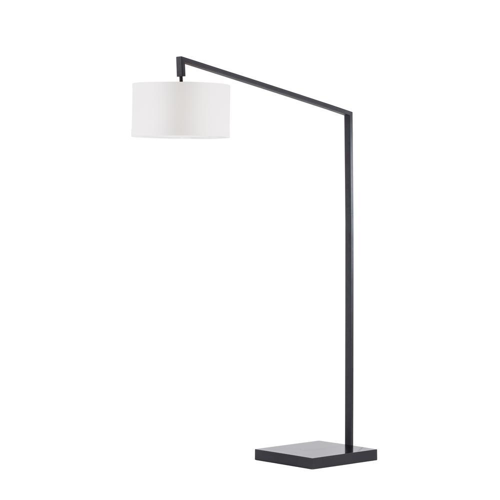 NOVA of California Stretch Chairside Arc Lamp Matte Black