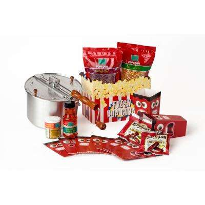16-Piece Aluminum Popcorn Popper Set