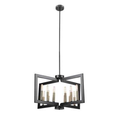 Heath 12-Light Dark Bronze Chandelier