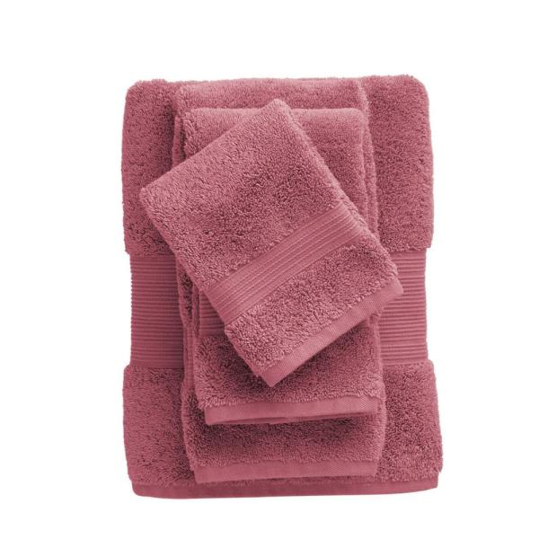 The Company Store Legends Regal Egyptian Cotton Wash Cloth in Rouge (Set of 2)