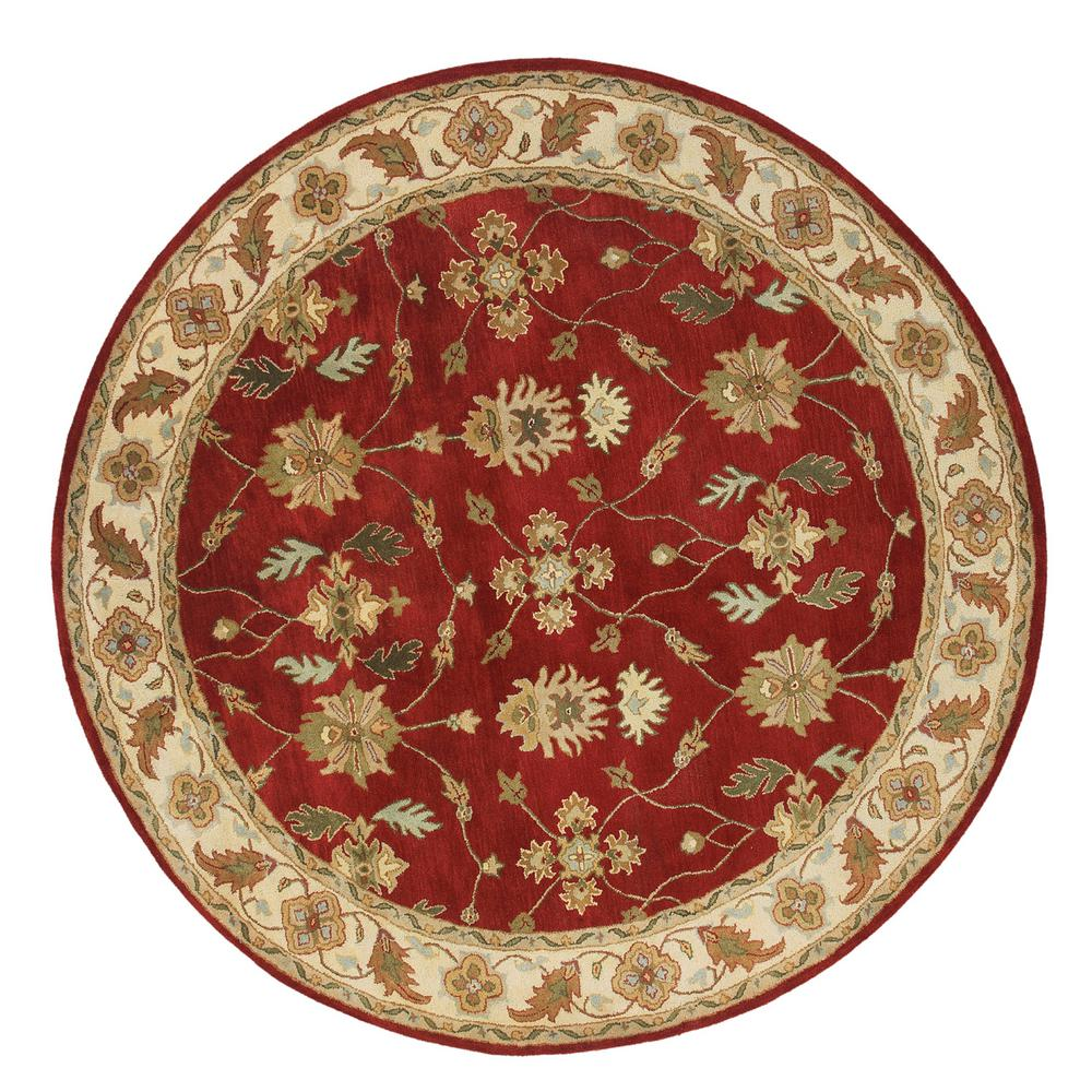 Charisma Red/Ivory 5 ft. 3 in. Round Indoor Area Rug