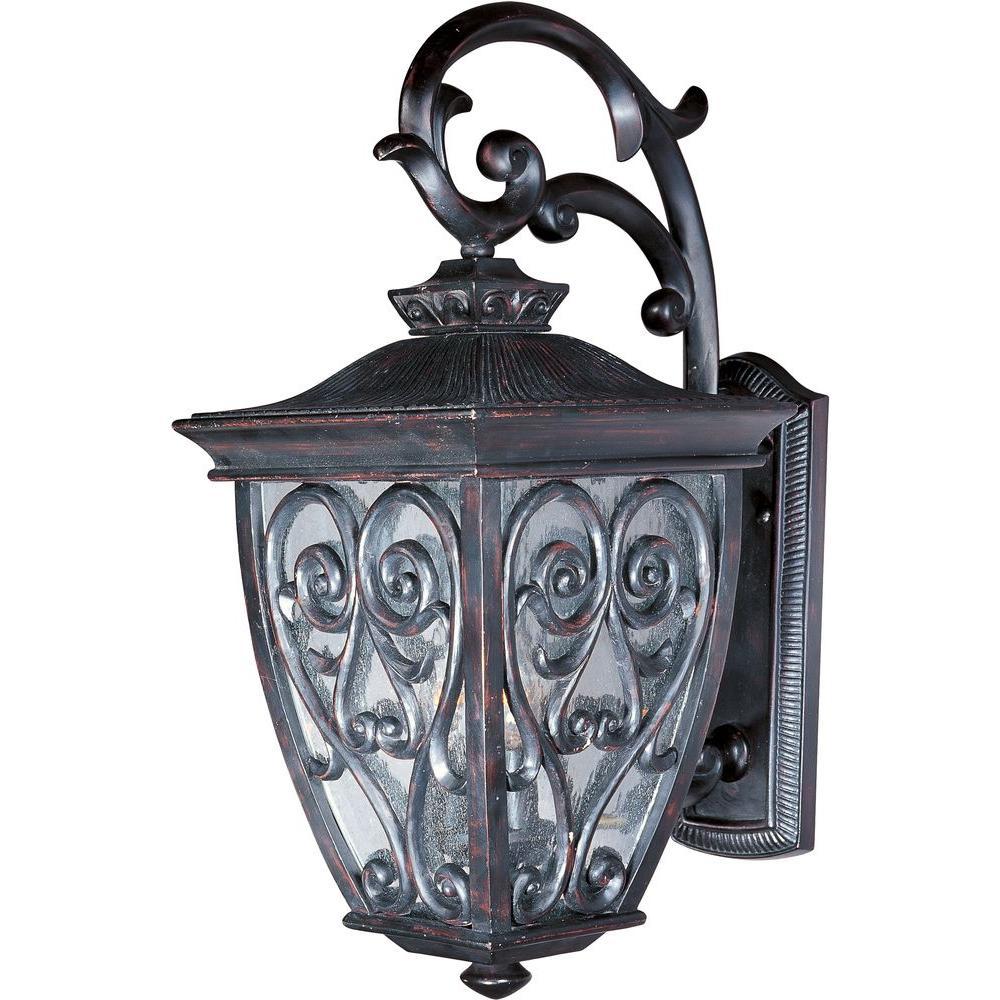 maxim lighting newbury vx 2 light oriental bronze outdoor wall mount