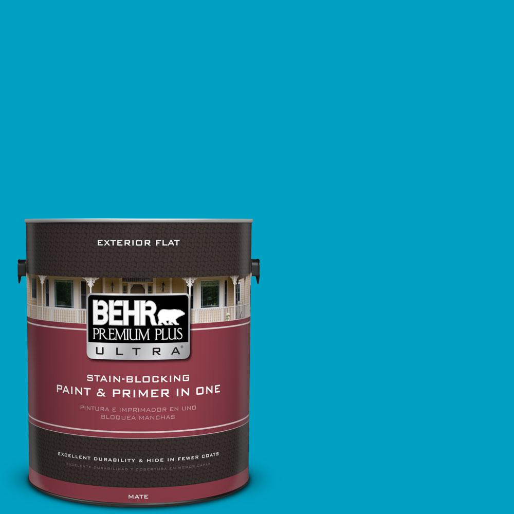 1 gal. #530B-6 Tropical Holiday Flat Exterior Paint