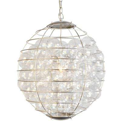 Thomas 1-Light Dusty Gold Chandelier with Glass Globes Shade