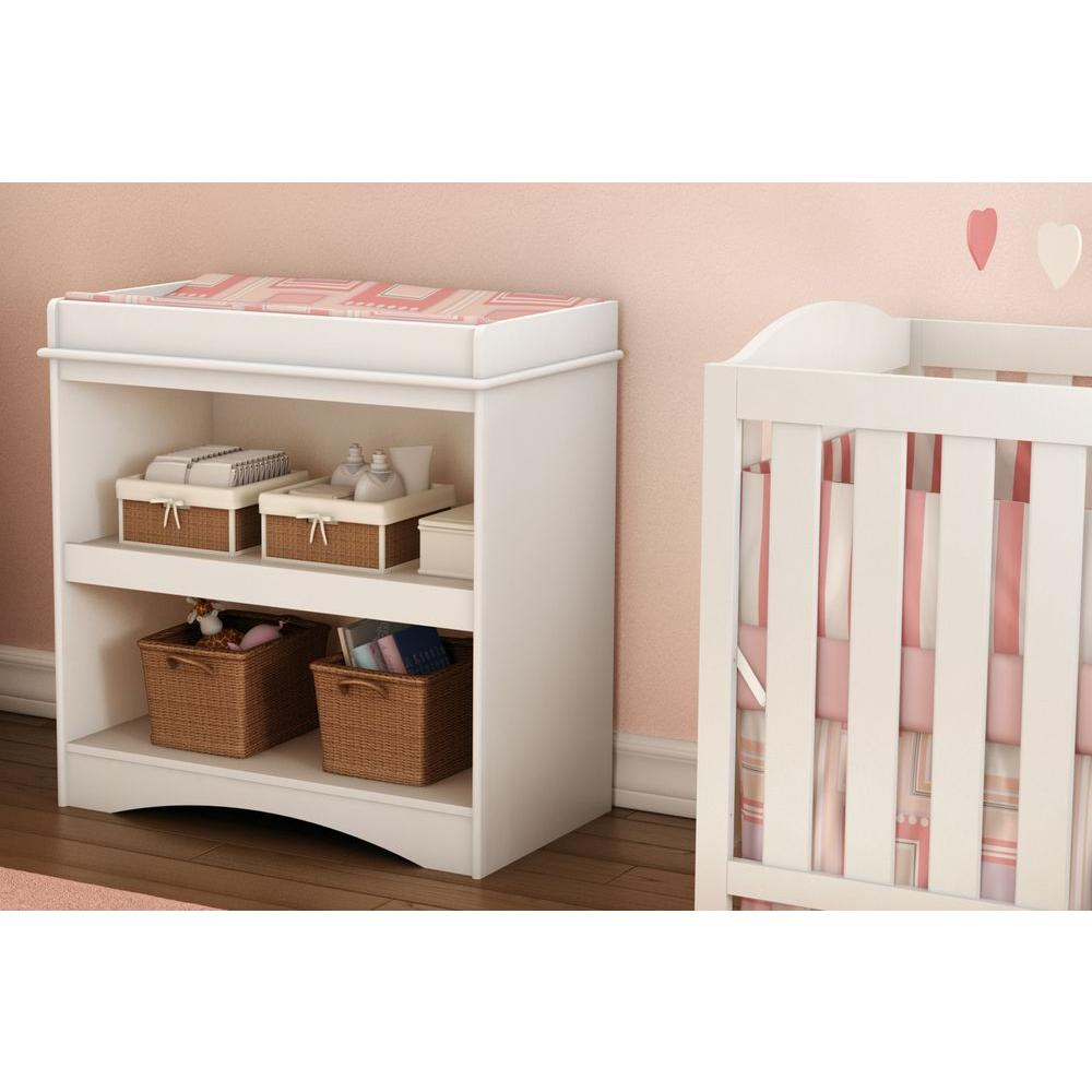 South Shore Peek A Boo Pure White Changing Table