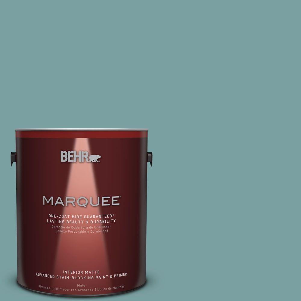 1 gal. #S440-4 Tower Bridge One-Coat Hide Matte Interior Paint