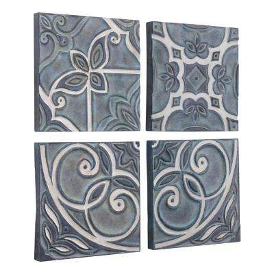 Metal Tiles Set of 4 Wall Decor
