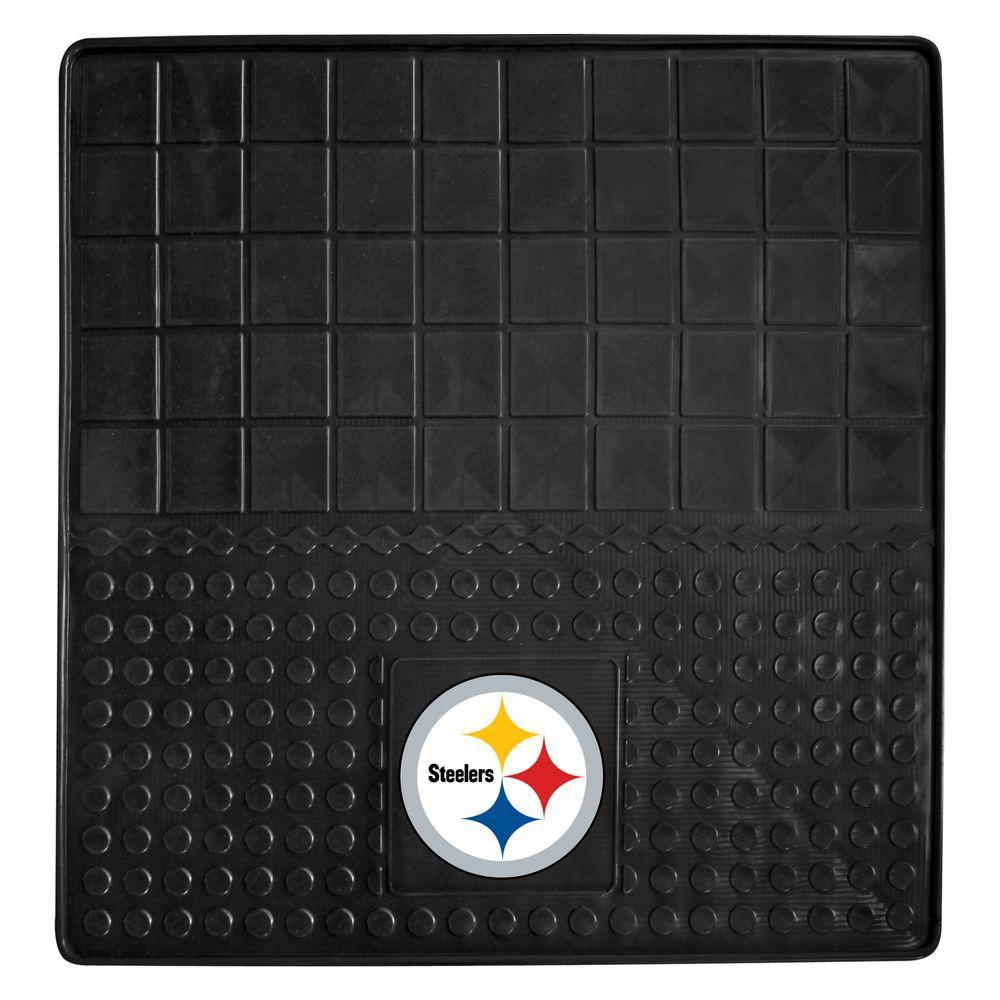 FANMATS Pittsburgh Steelers Heavy Duty Vinyl 31 in. x 31 in. Cargo Mat