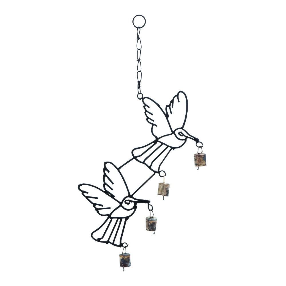 1-Piece Metal Bird Wind Chime