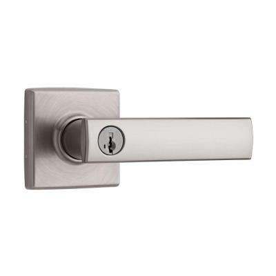 Vedani Square Satin Nickel Entry Lever featuring SmartKey