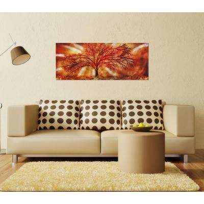 Brevium 19 in. x 48 in. Seasons of Change Metal Wall Art