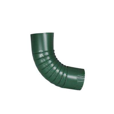 4 in. Round Forest Green Aluminum Downpipe Elbow
