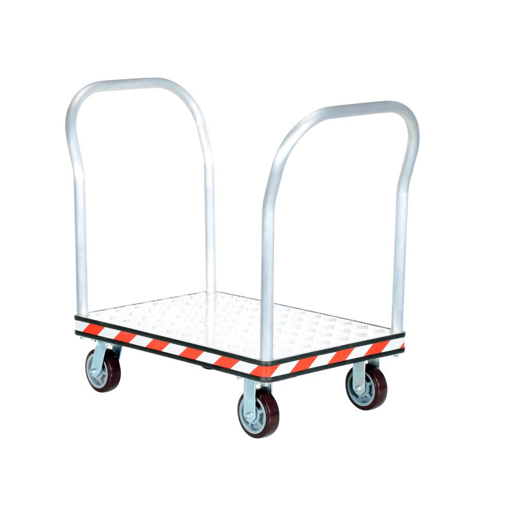 24 in. x 36 in. Aluminum Treadplate Platform Trucks with Double