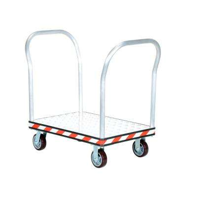 24 in. x 36 in. Aluminum Treadplate Platform Trucks with Double Handles