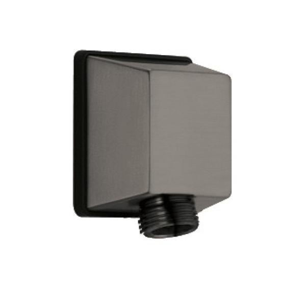 Square Hand Shower Wall Elbow in Black Stainless