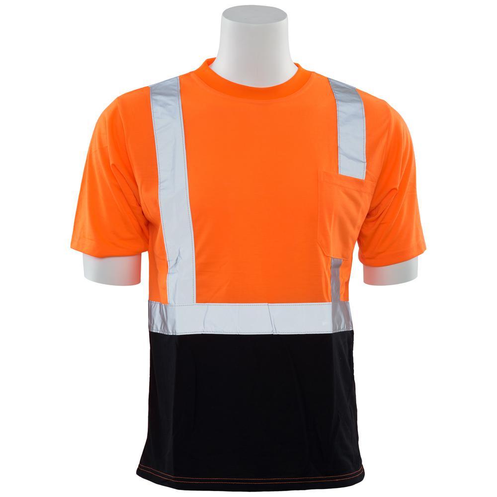 ERB Safety Products 63612 ERB 9604SBC HVO Short Sleeve Contrasting Trim Class 2 4XL Orange