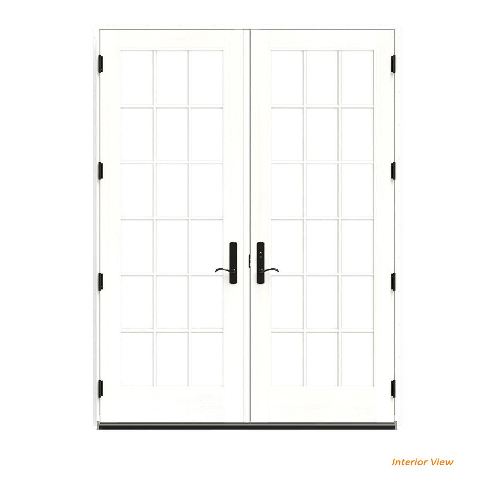 This Review Is From:72 In. X 96 In. W 4500 Green Clad Wood Left Hand 18  Lite French Patio Door W/White Paint Interior